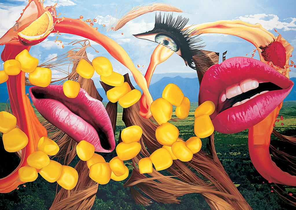 Easyfun Lips, Jeff Koons, 2001