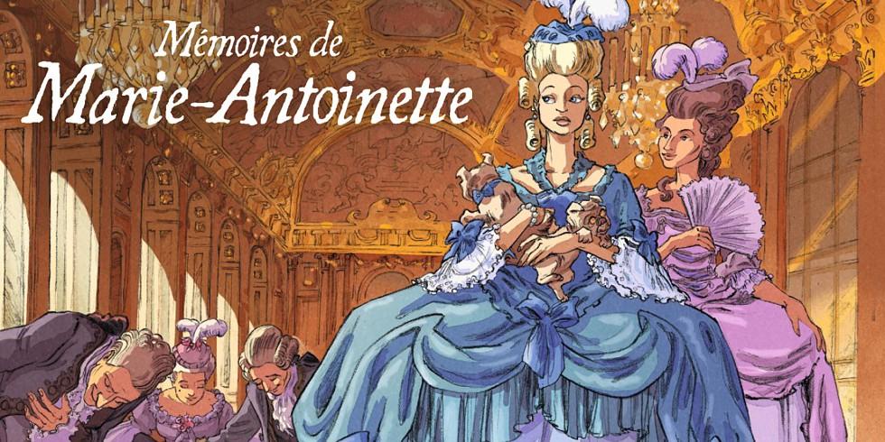 """Couverture de la Bande dessinée """"Mémoires de Marie-Antoinette"""""""