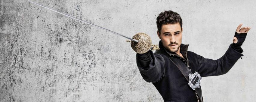 Olivier Dion dans le rôle de d'Artagnan