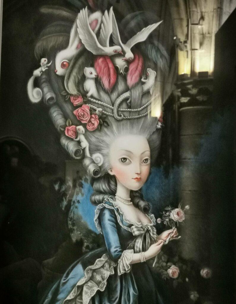"""Illustration, exposition """"Marie-Antoinette, métamorphose d'une image"""" à la Conciergerie"""