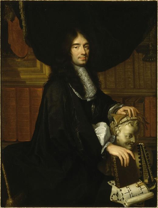 Charles Perrault par Philippe Lallemand, d'après Charles Le Brun, 1672