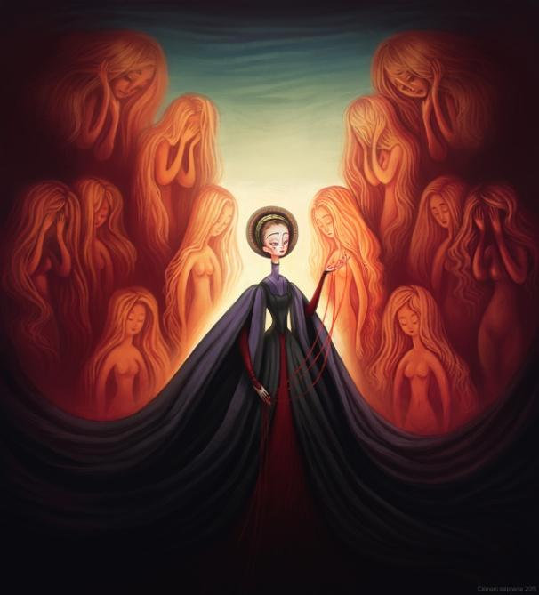 La comtesse Elizabeth Bathory, de Stéphanie Clément © Musée des Vampires et Monstres de l'Imaginaire