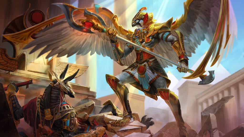 Horus combattant Seth