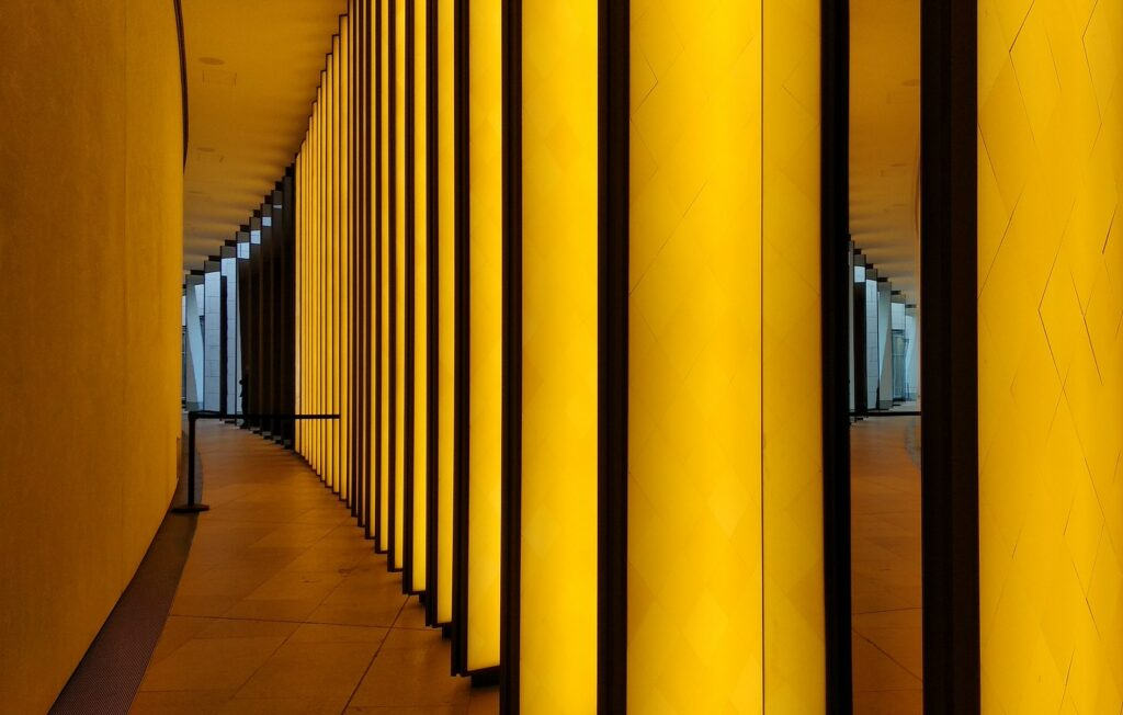 Intérieur de la Fondation Louis Vuitton