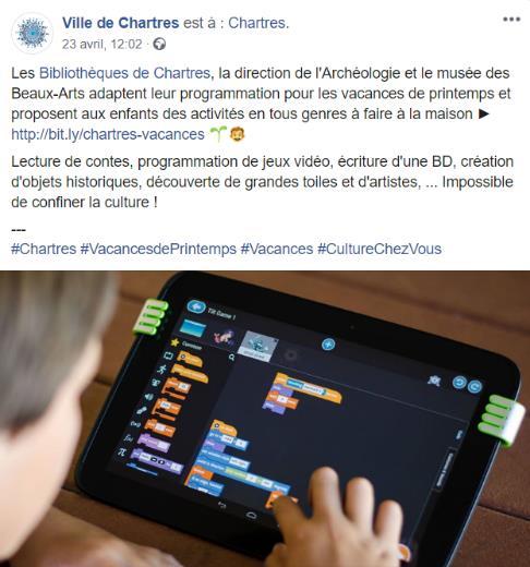 Les établissements culturels de la ville de Chartres gardent le lien avec leurs publics via les réseaux sociaux © Ville de Chartres
