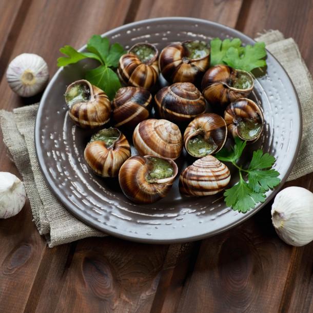 Les escargots de Bourgogne, régime pur beurre