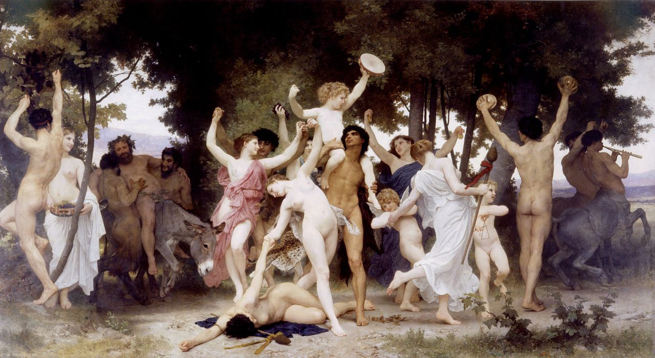 The Youth of Bacchus (La jeunesse de Bacchus) 1884 par William Adolphe Bouguereau (1825-1905)