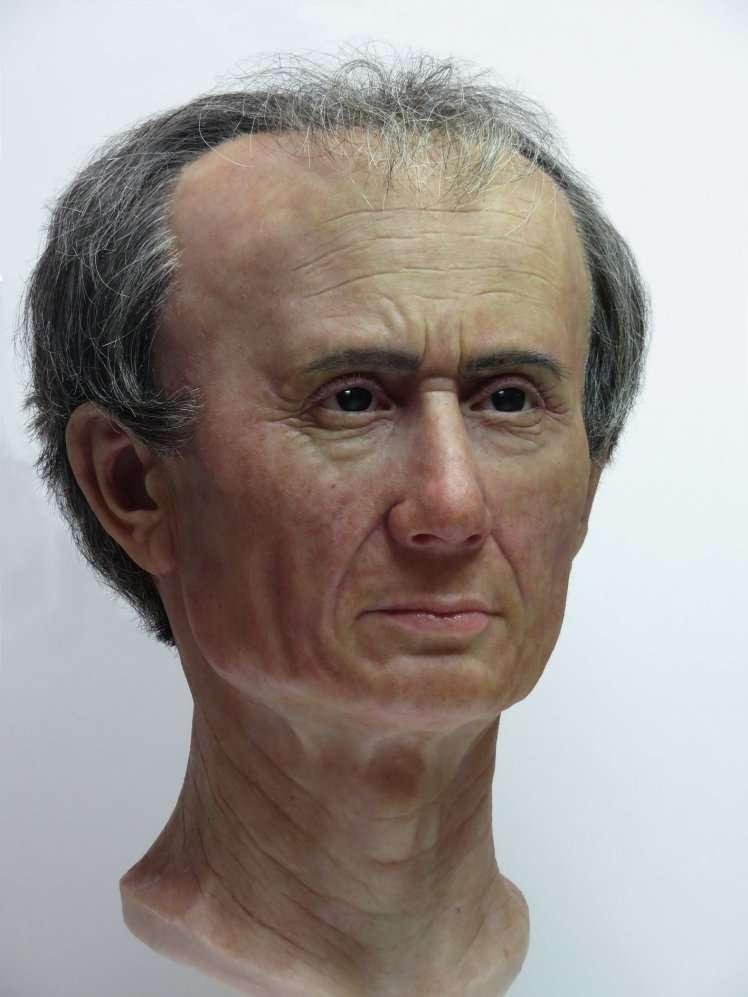 Reconstitution 3D du visage de Jules César