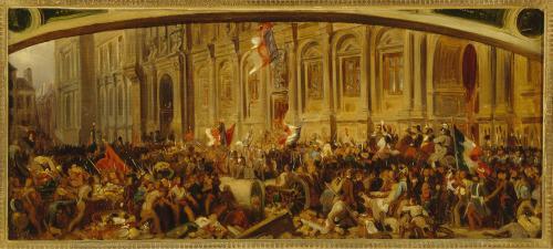 Lamartine repoussant le drapeau rouge à l'hôtel de ville, le 25 février 1848