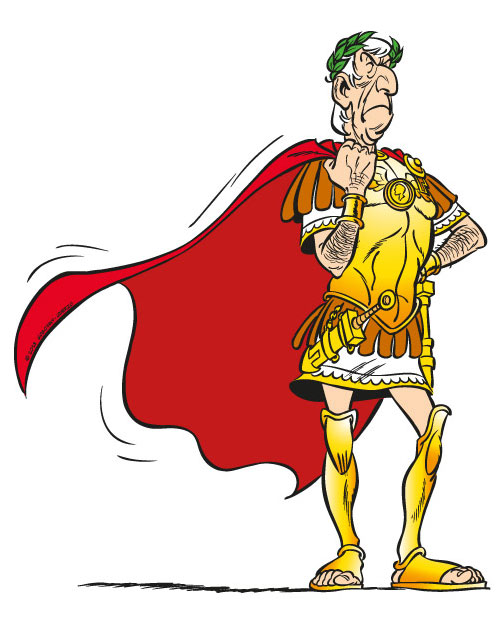 Représentation de Jules César dans les bandes dessinées Astérix