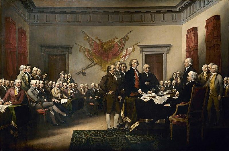 La Déclaration d'indépendance, tableau de John Trumbull (1819) / ©United States Capitol