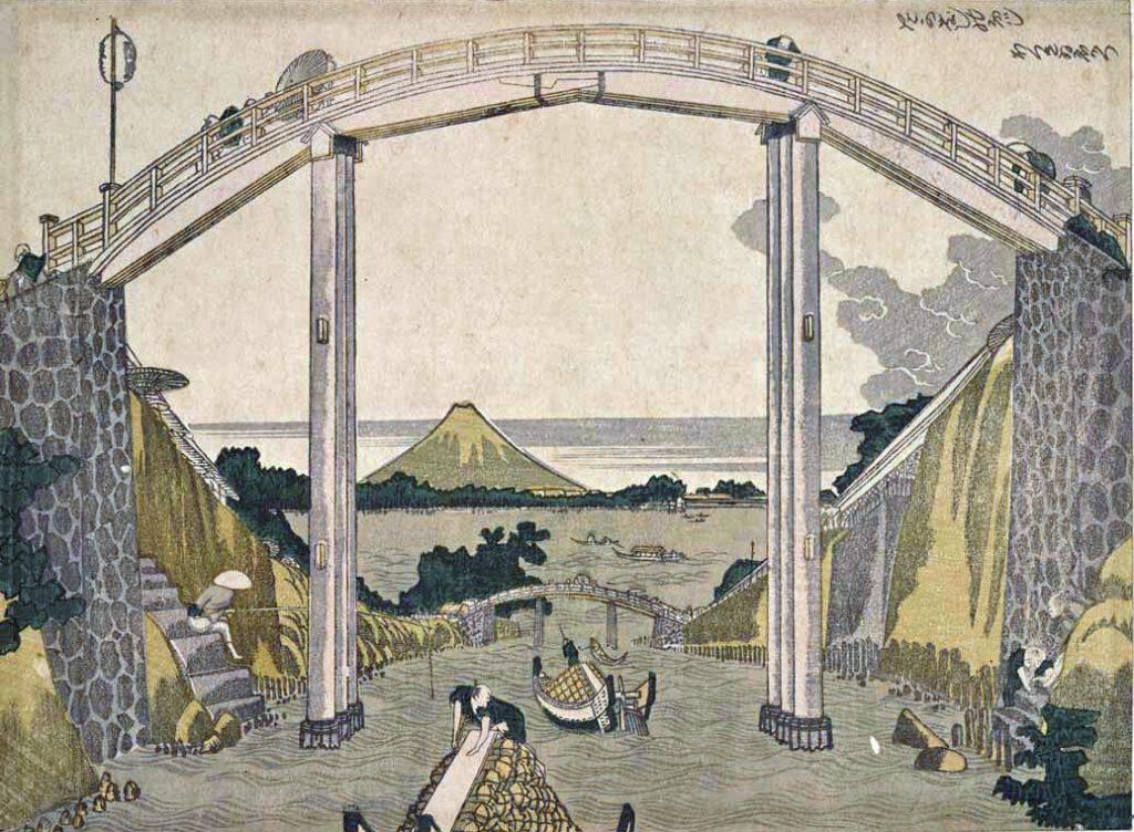 Hokusai n'a cessé de représenter le Mont Fuji, symbole éternel, dans ses estampes