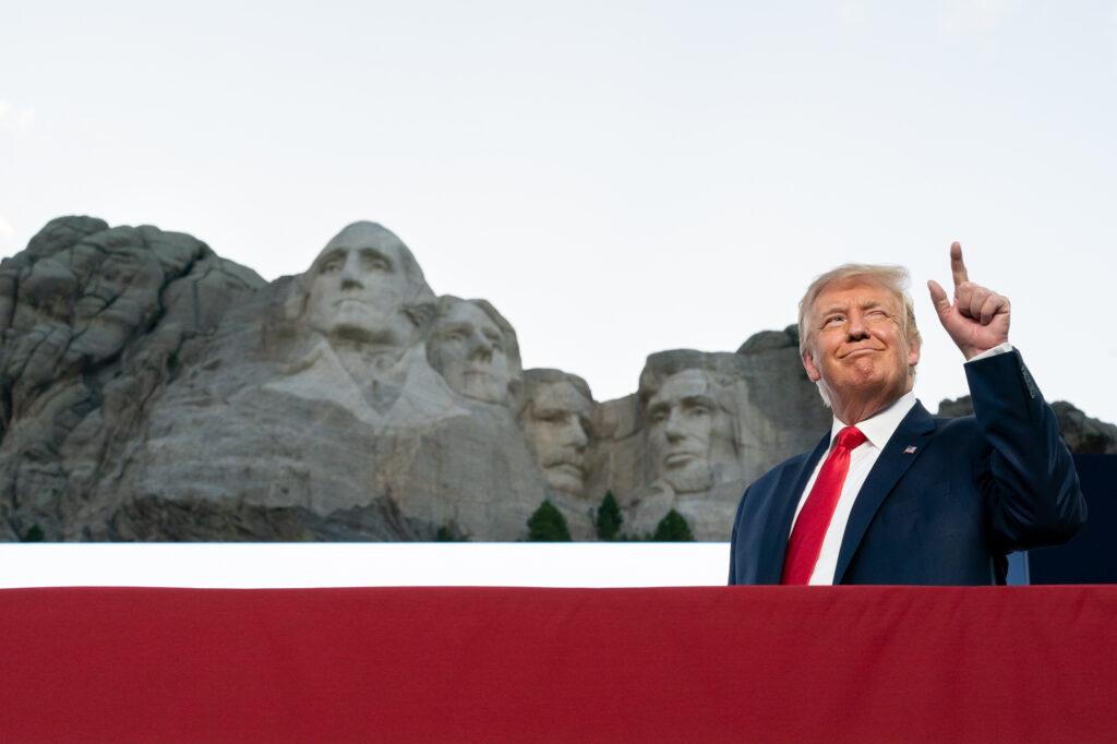 Donald Trump au Mont Rushmore en juillet 2020