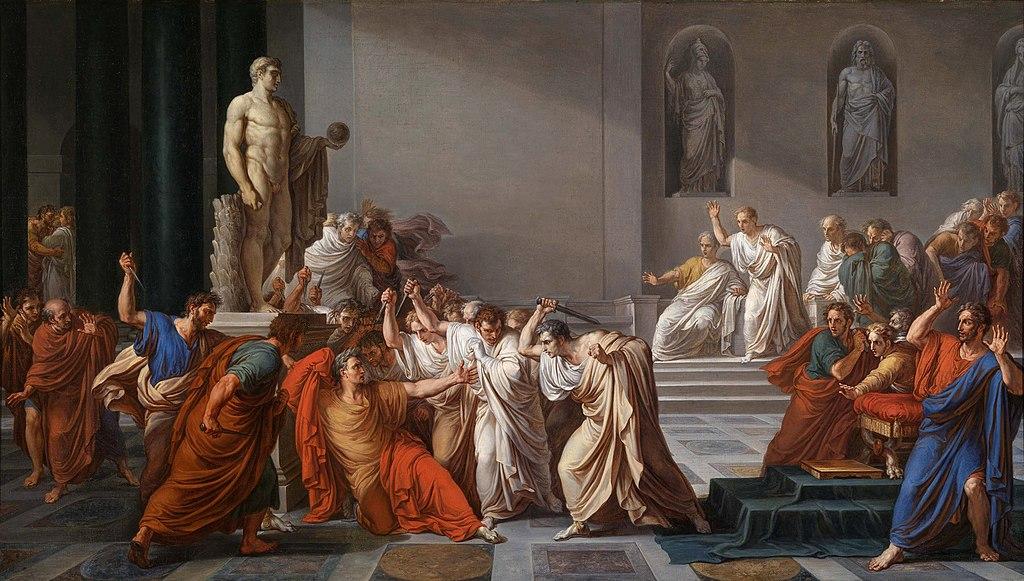 L'assassinat de Jules César (Vincenzo Camuccini  (1771 - 1844) - La morte di Cesare)