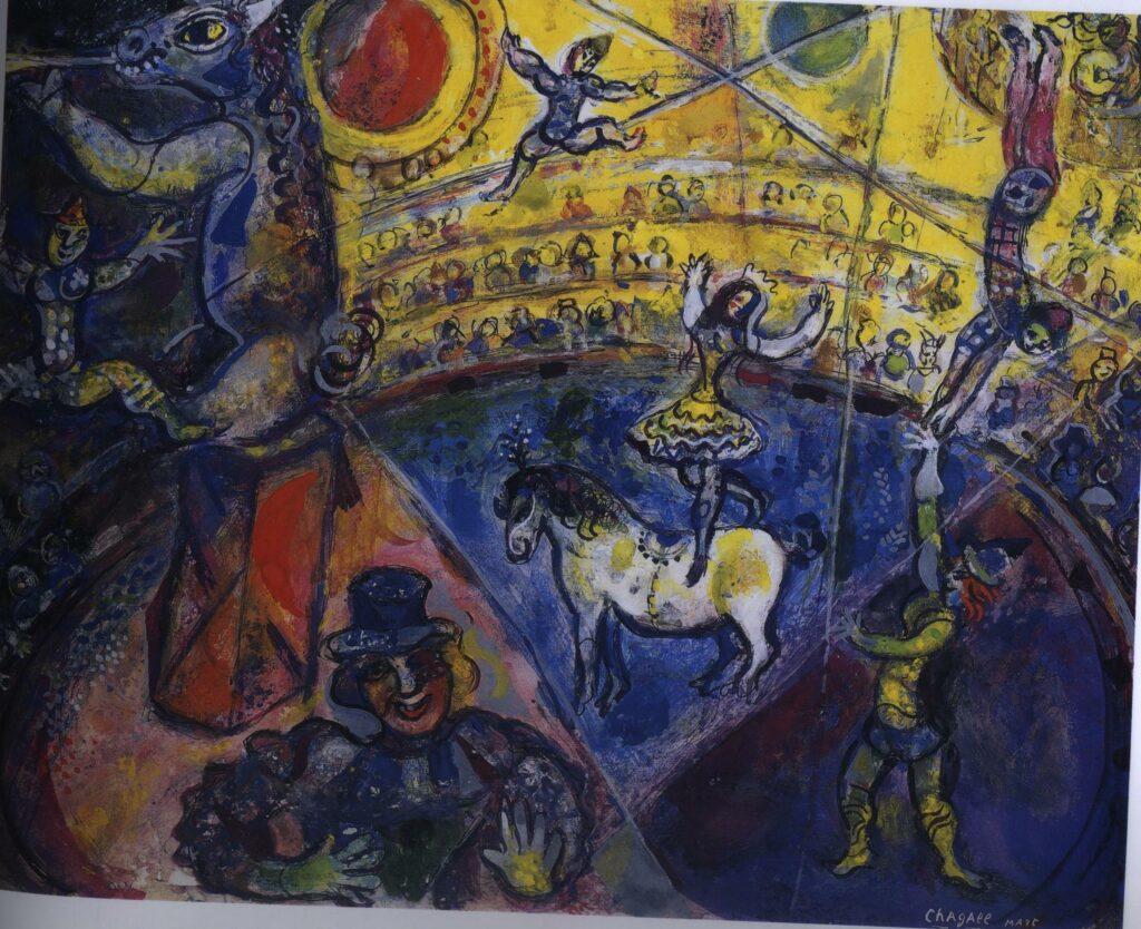 Le cheval de Cirque par Chagall