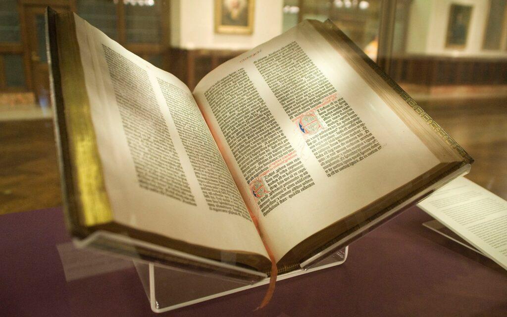 Exemplaire de la Bible de Gutenberg_conservée à la New York Public Library @Kevin Eng