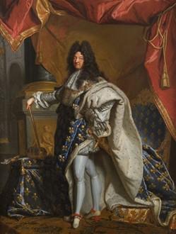 Portrait de Louis XIV en costume de sacre, peinture par Hyacinthe Rigaud
