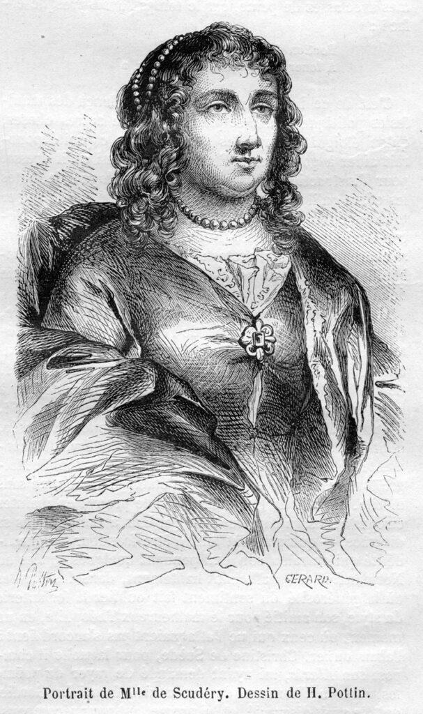 Portrait de Madeleine_de_Scudéry_ dessin de H. Pottin