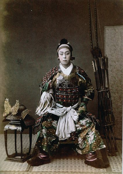 Photographie d'un archer japonais, prise en 1867 par Felice Beato