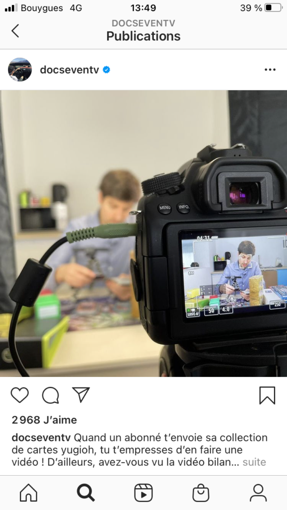 Post Instagram de Doc Seven du 11/01/2021