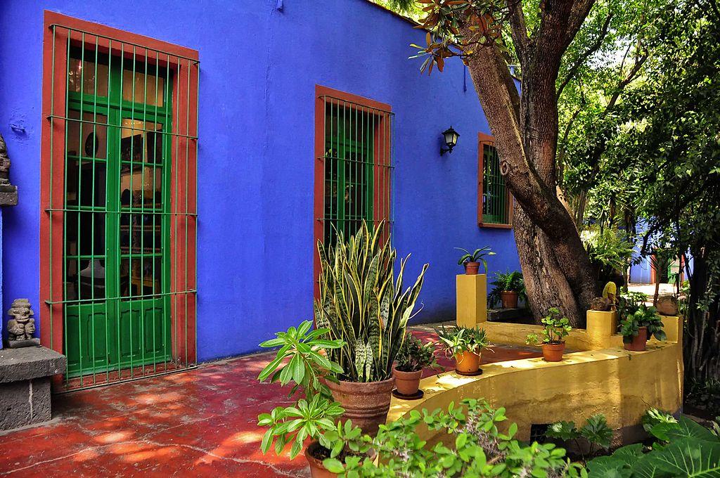 Sorties et activités du mois de mars – Devanture de la Casa Azul à Coyoacán