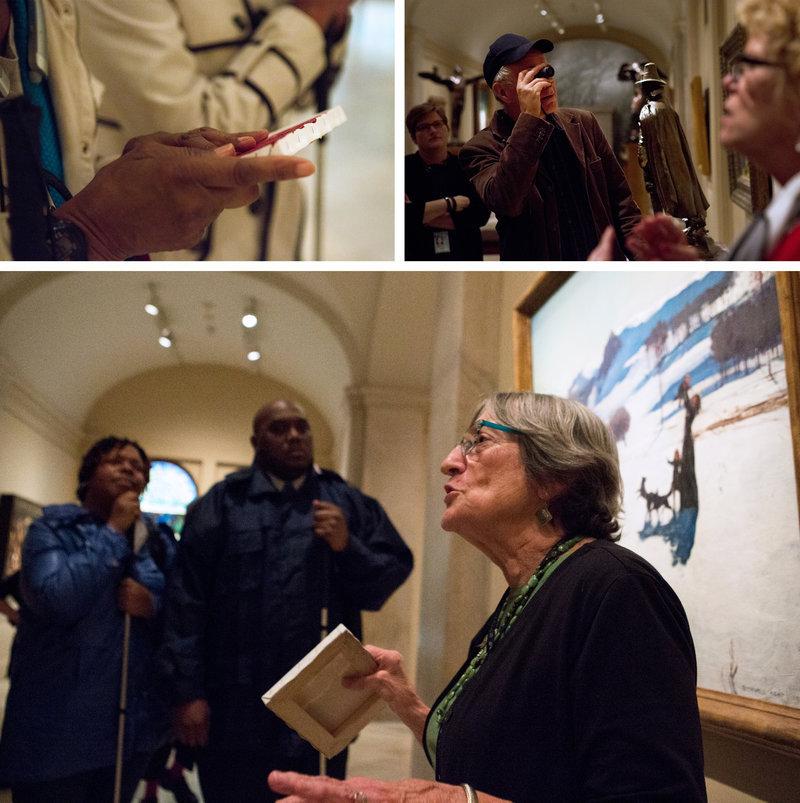 Visite pour non-voyants et mal-voyants au Smithsonian American Art Museum de Washington – Photo : Raquel Zaldivar / NPR