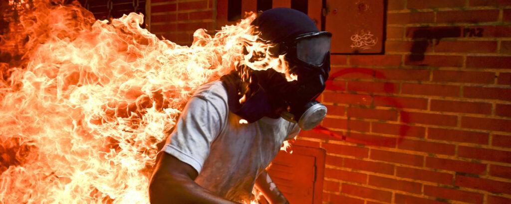Émeutes à Caracas, Vénézuela ©Ronaldo Schemidt