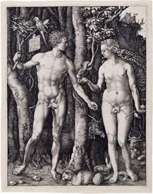 Adam et Eve par Albrecht Durer, 1504 - photo wikimediacommons
