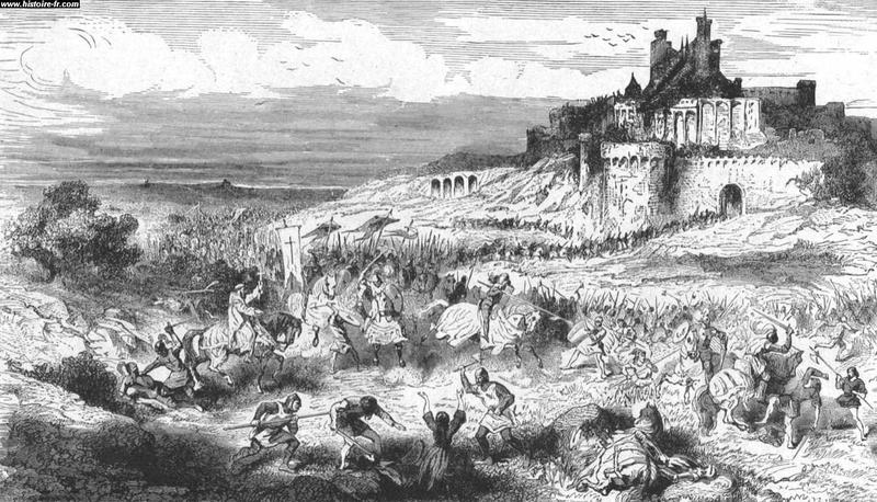 Les croisés et la prise de béziers, Paul Lehugeur, XIX ème siècle