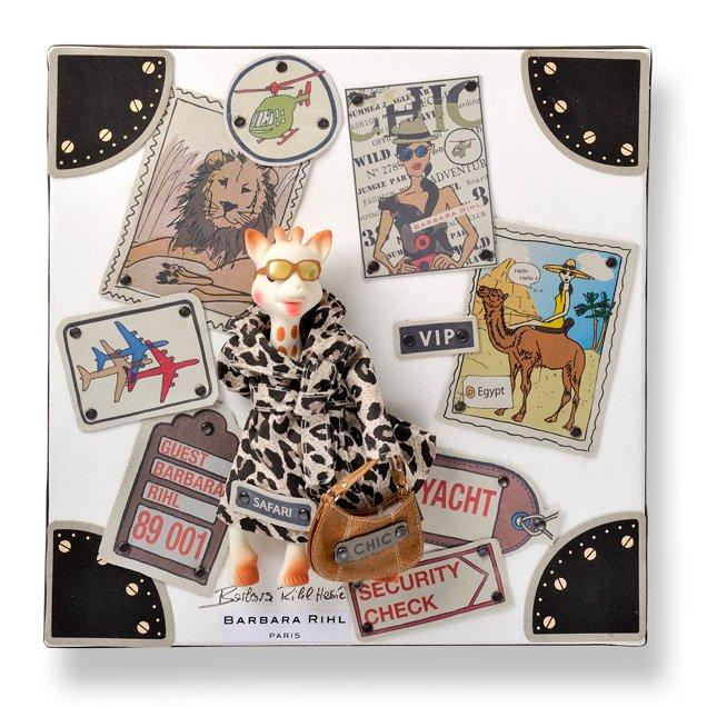 Oeuvre de Barbara RIHL HERME pour les 50 ans de Sophie la girafe