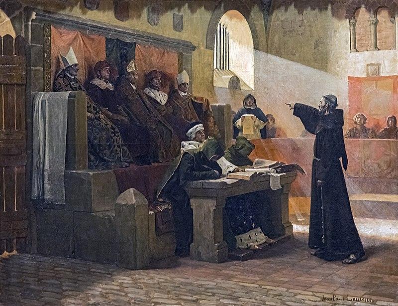 Jean-Paul Laurens, L'agitateur du Languedoc, 1887, huile sur toile, 115.5 x 145 cm, Musée des Augustins, Toulouse