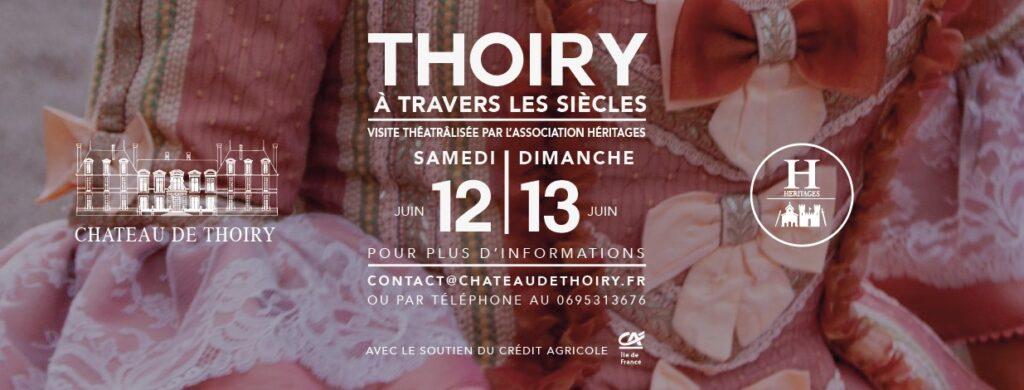 Une bannière qui annonce l'événement : Inscription Thoiry à travers les siècles