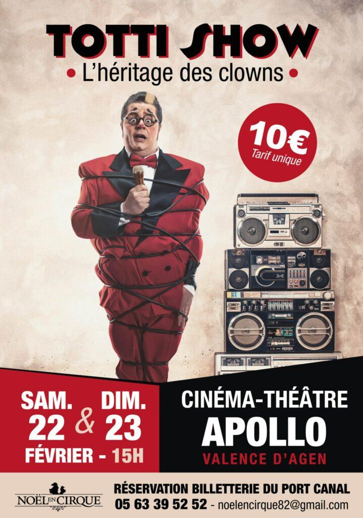 Affiche du spectacle Totti Show, l'héritage des clowns