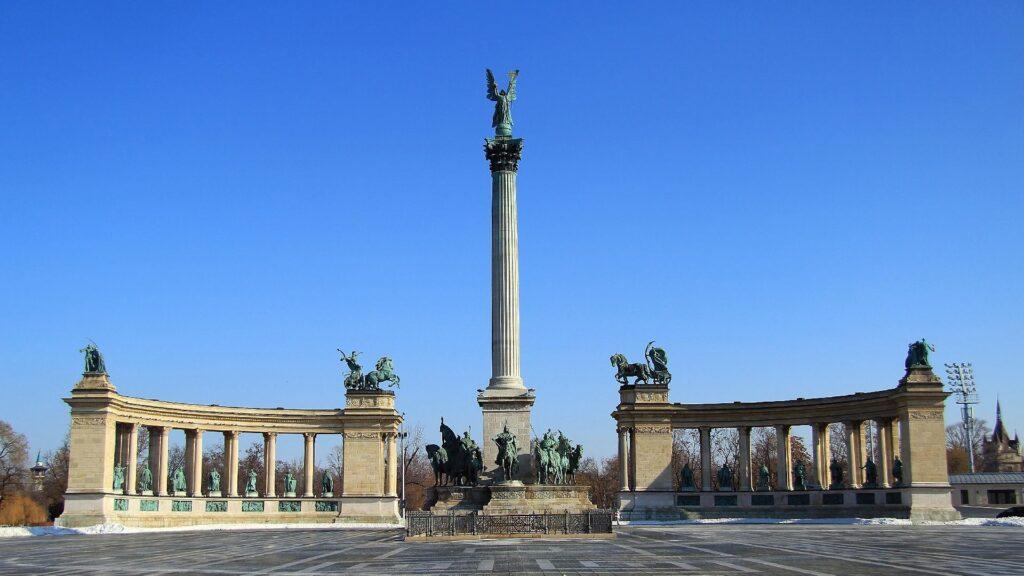 Place des Héros à Budapest, Hongrie