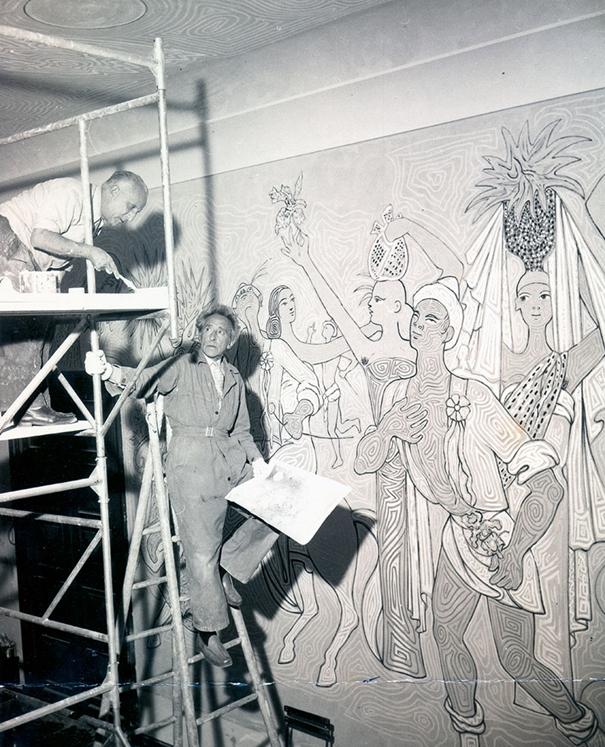 Salle des mariages de Menton décorée par Jean Cocteau